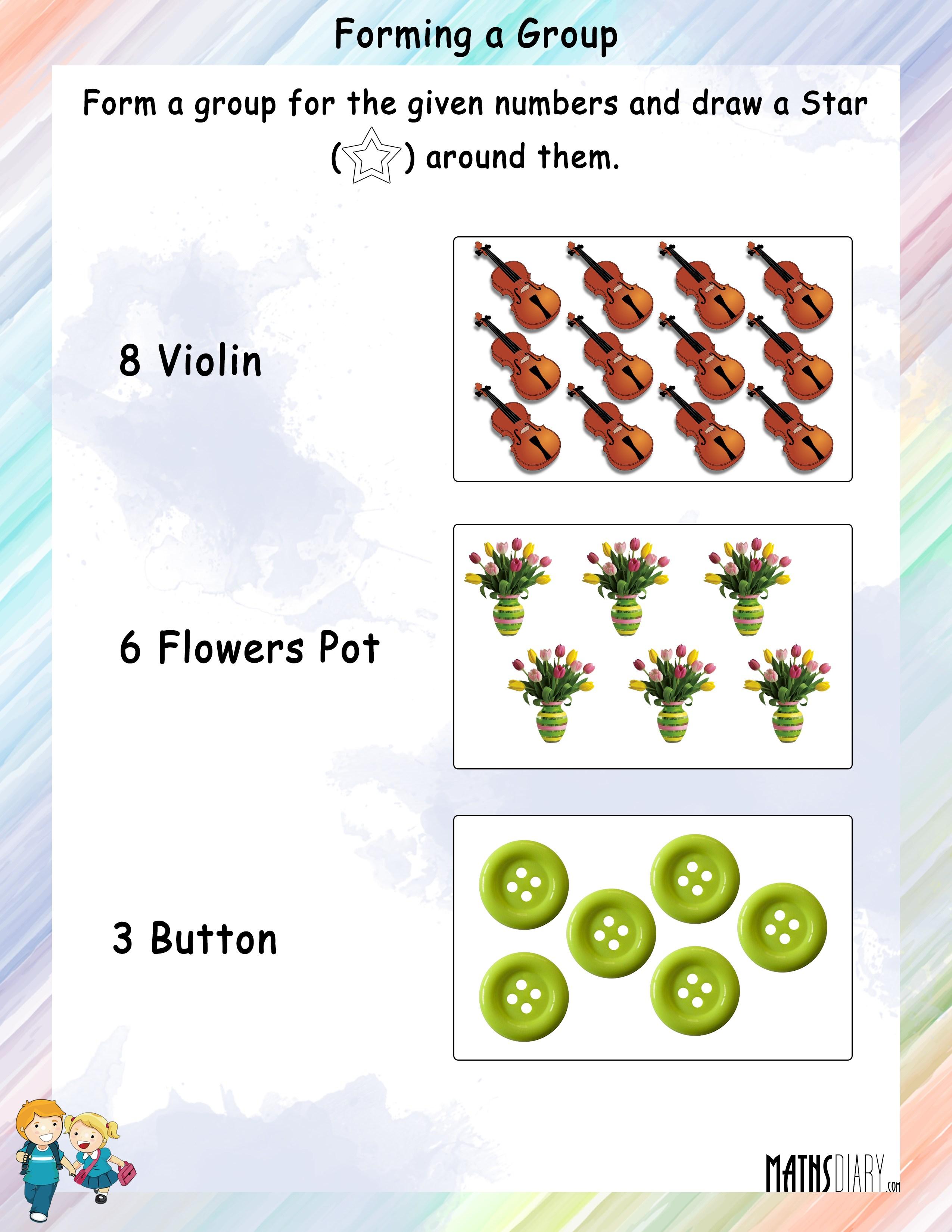 Numbers Grade 1 Math Worksheets