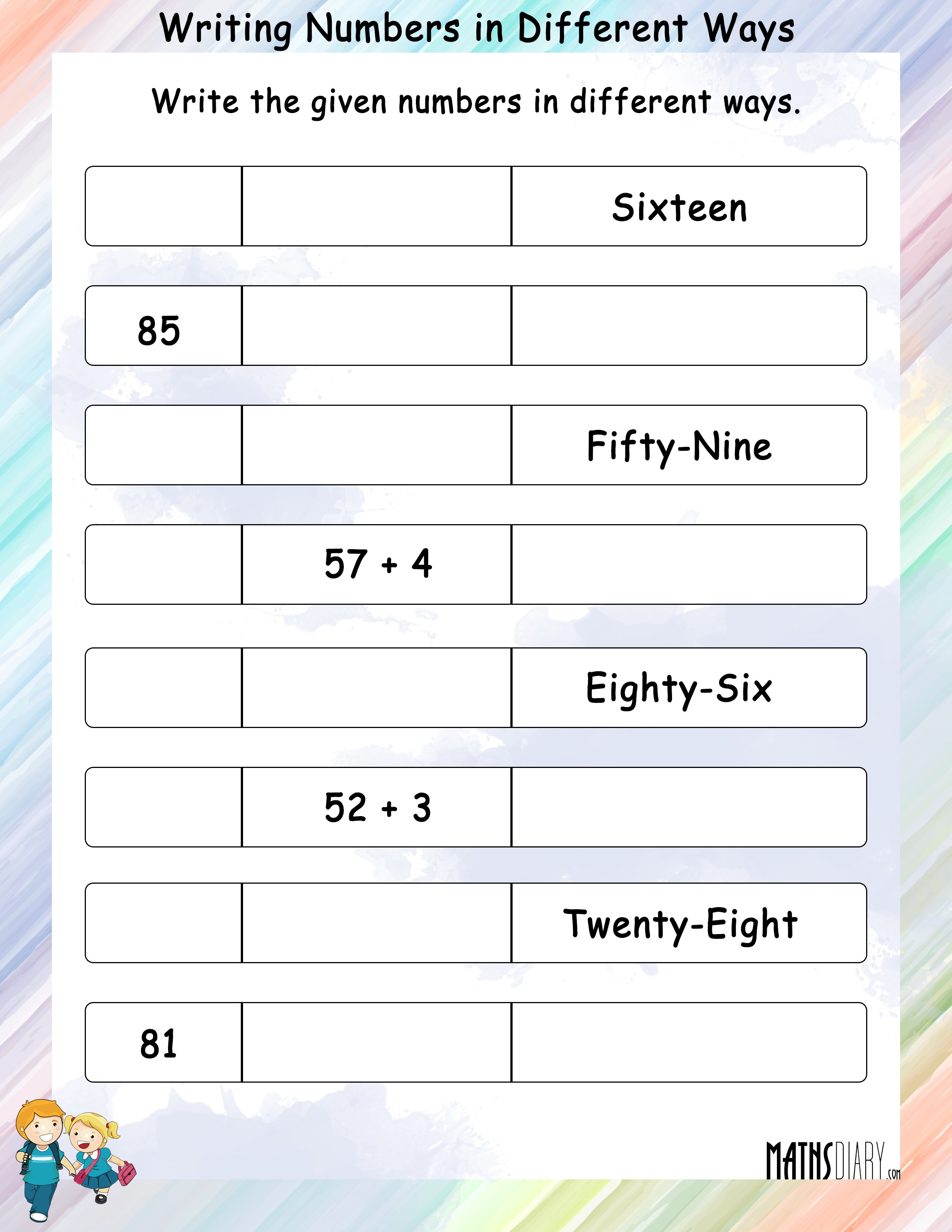 Writing Numbers In Different Ways