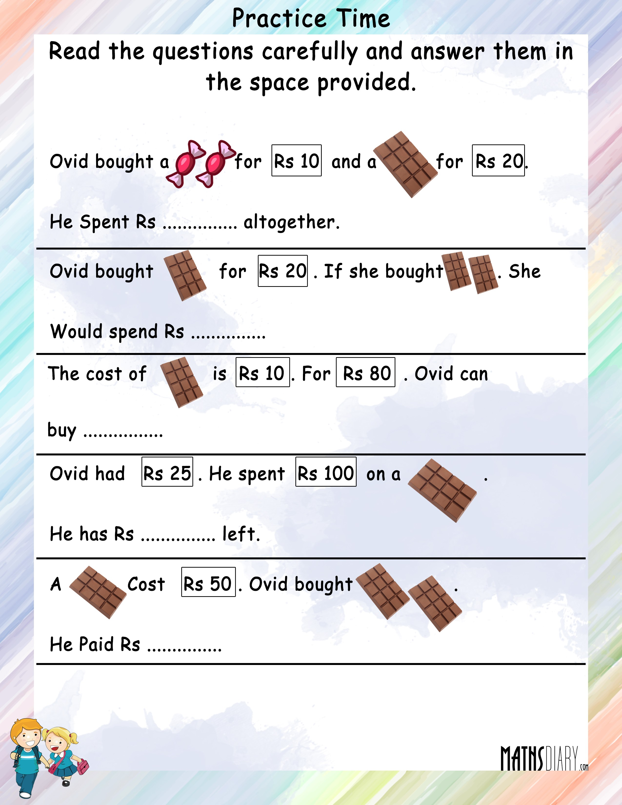 Money Problem Solving Questions Grade 4 Gokyuzu