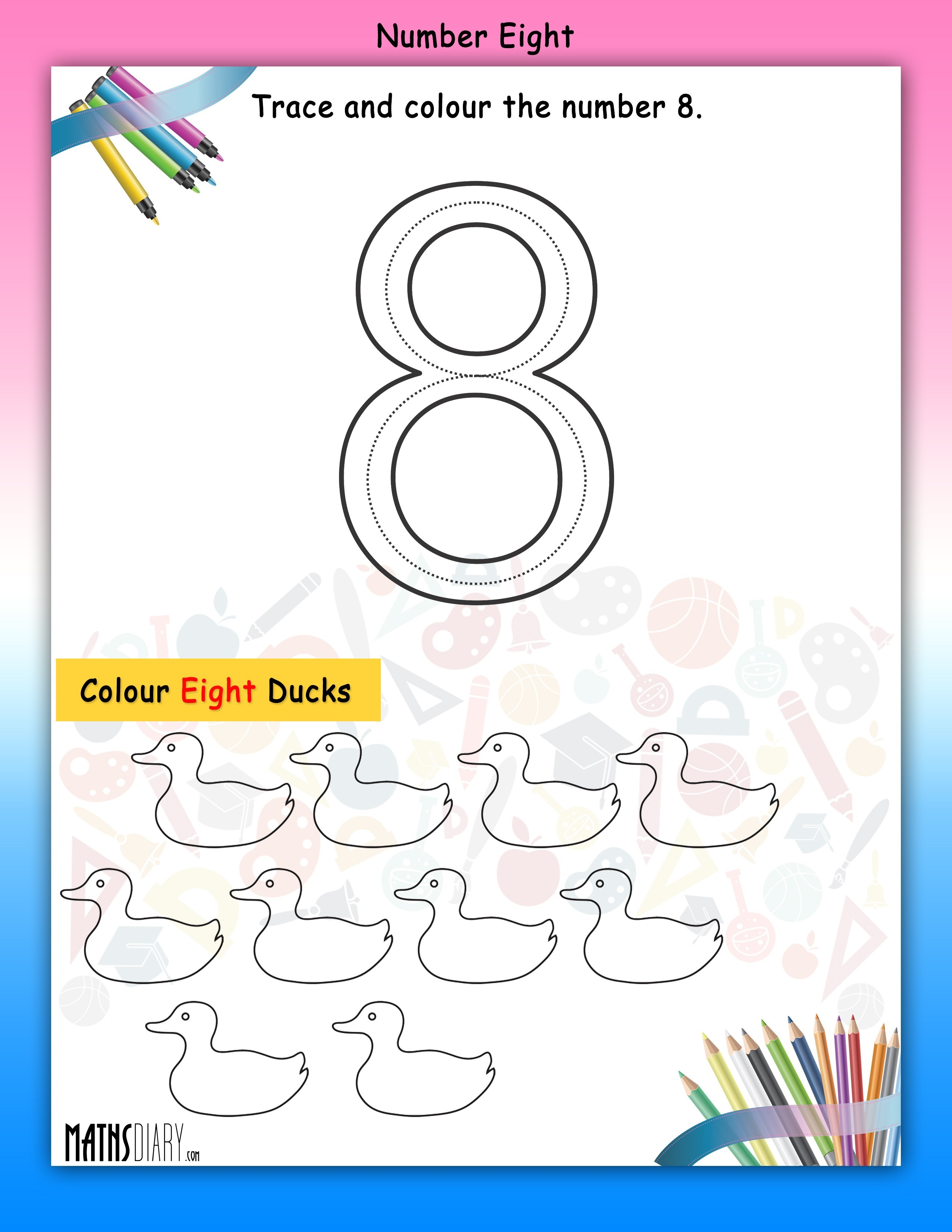 Numbers Nursery Math Worksheets