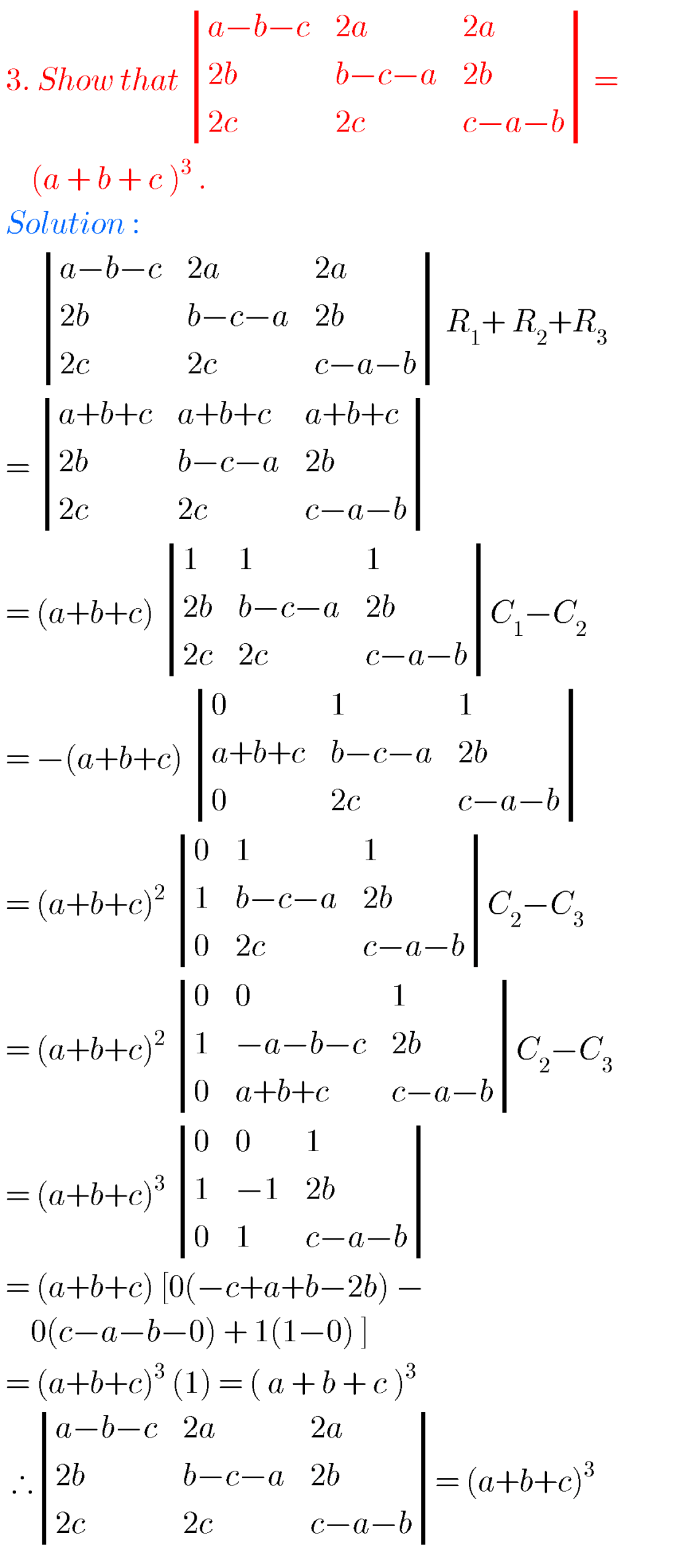 Matrices solutions,inter maths 1a chapter 3 solutions