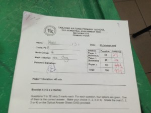Alexis joined the Tue class after she scored 56% for her SA1. She improved by 36.5 marks after one Semester :)