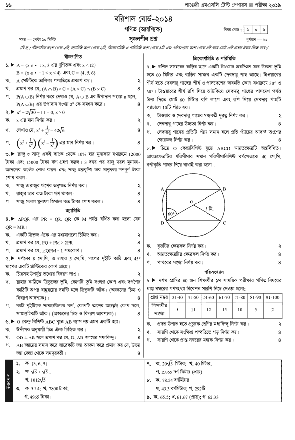 SSC Math Question of BB 2014