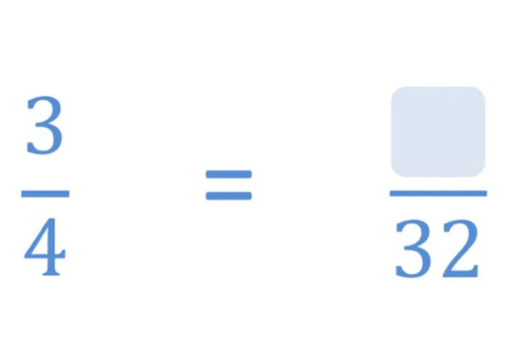 equivalent fraction with a missing numerator
