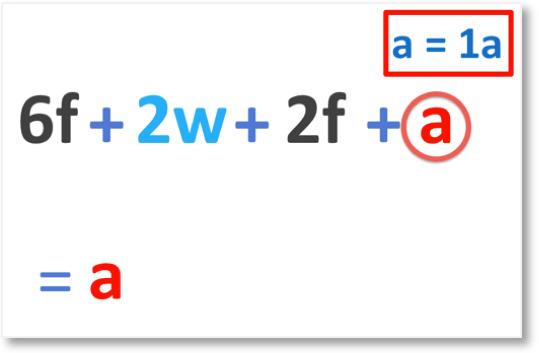 6f + 2w + 2f + a where a = 1a