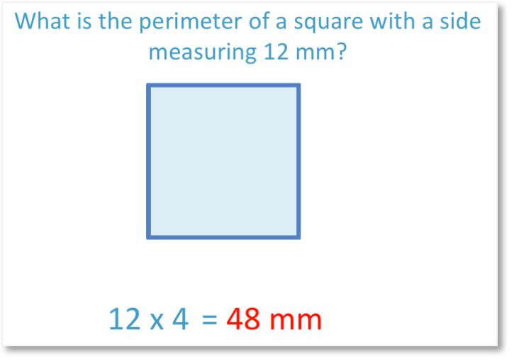calculating the perimeter of a square