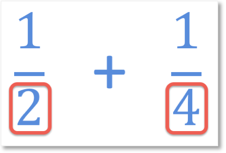 adding unlike fractions one half add one quarter example