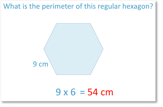 example of finding the perimeter of a regular hexagon