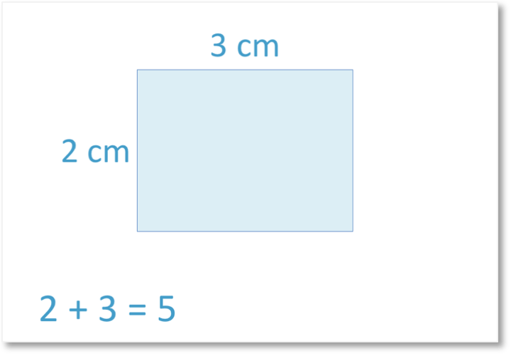 the sum of the length and width of a rectangle example