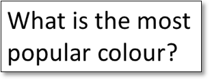 what is the most popular colour?