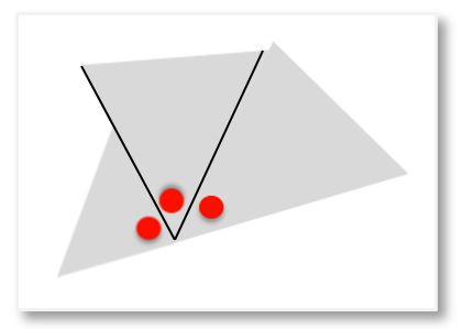 3 angles of a triangle placed together