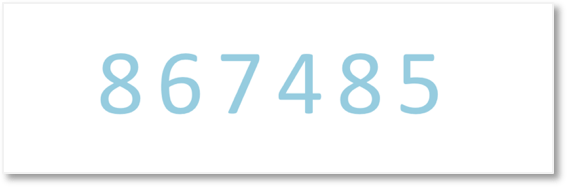 Reading numbers in the thousands, reading 867485