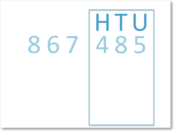 looking at the hundreds, tens and units columns of 867485