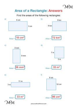 area of rectangles worksheet pdf