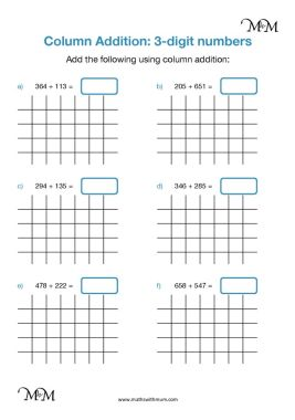 column addition with regrouping twice worksheet pdf