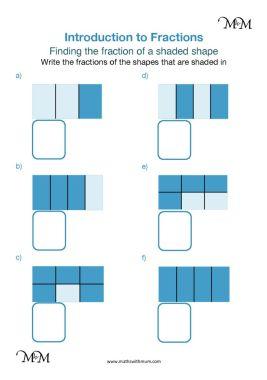 identifying fractions worksheet pdf