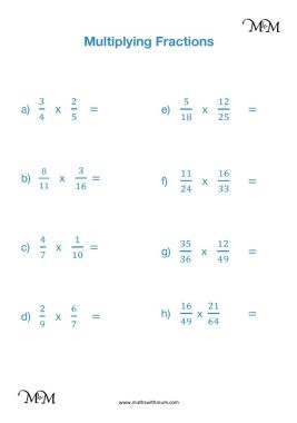 multiplying fractions simplifying first  maths with mum multiplying fractions worksheets and answers