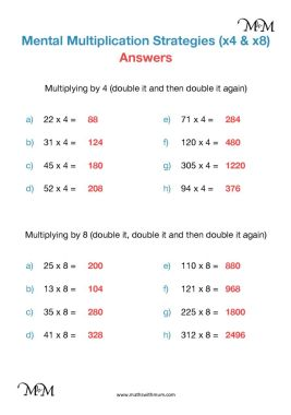 multiplying by 4 and 8 worksheet answers pdf