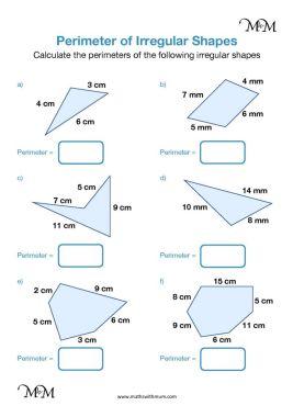 finding the perimeter of an irregular shape pdf worksheet