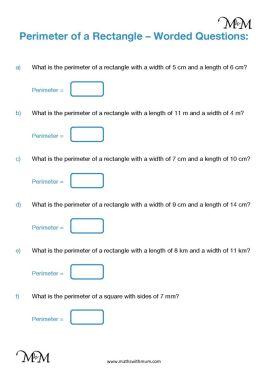 perimeter word problems worksheet pdf