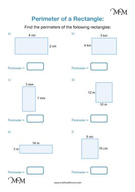 perimeter of rectangles worksheet pdf