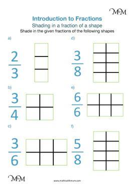 shading fractions worksheet pdf