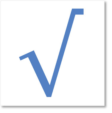 square root sign