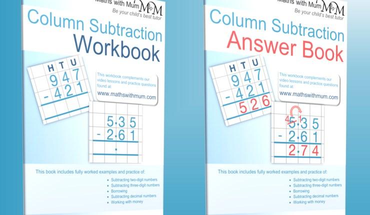 subtraction practice workbook