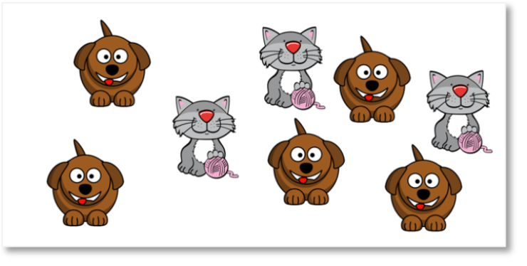 a collection of cats and dogs