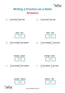 converting fractions to ratios worksheet answers pdf