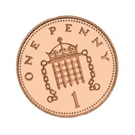 british money one penny coin