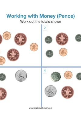 counting uk pence coins worksheet pdf
