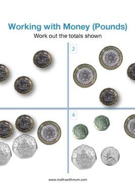 counting uk pound coins worksheet pdf