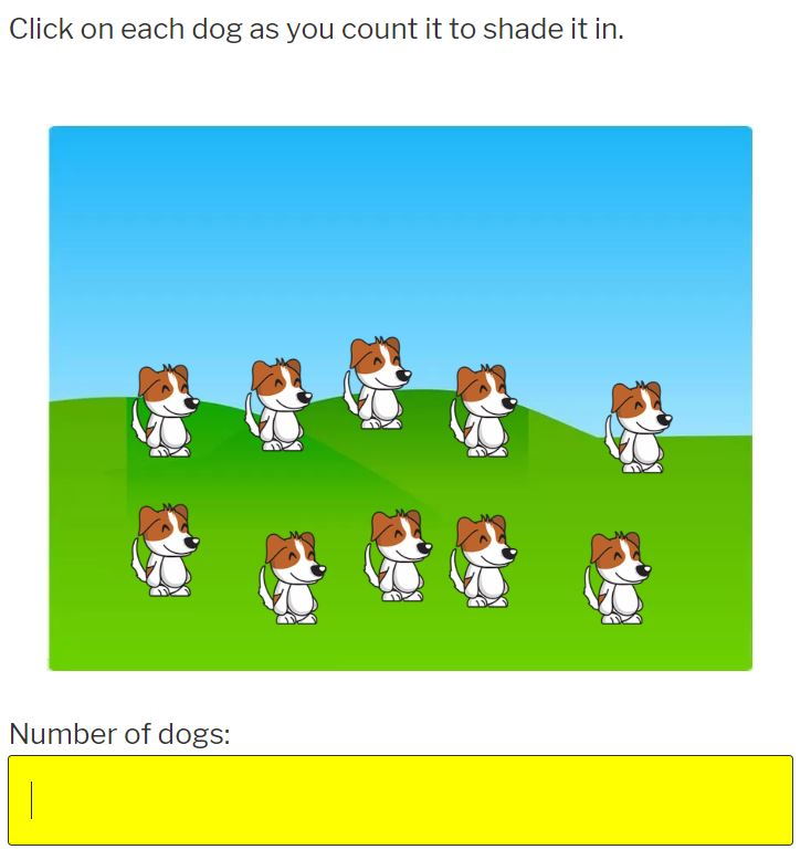 learn how to count to 20 with dogs