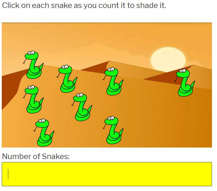 learn how to count to 10 with snakes