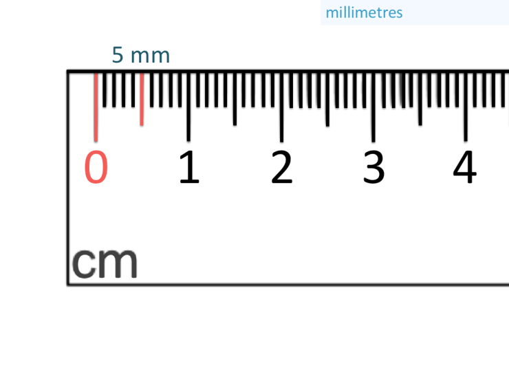 5 mm marked on a ruler
