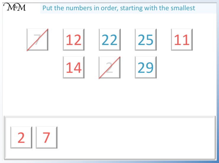 comparing numbers to 100 by comparing the digits in the tens column