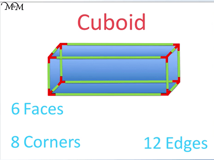 faces edges and vertices of a cuboid