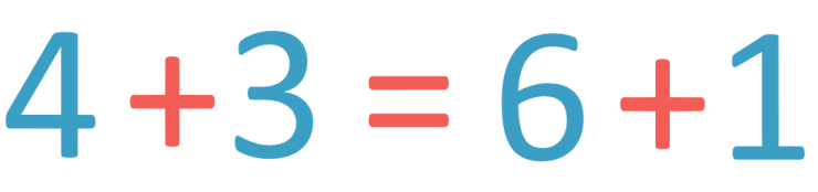 use of the equals sign in an addition number sentence containing more than one addition sign