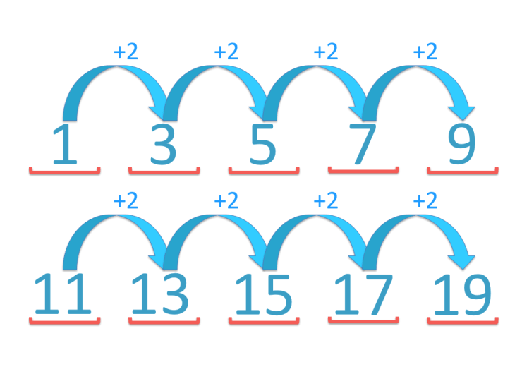 skip counting in twos from 1