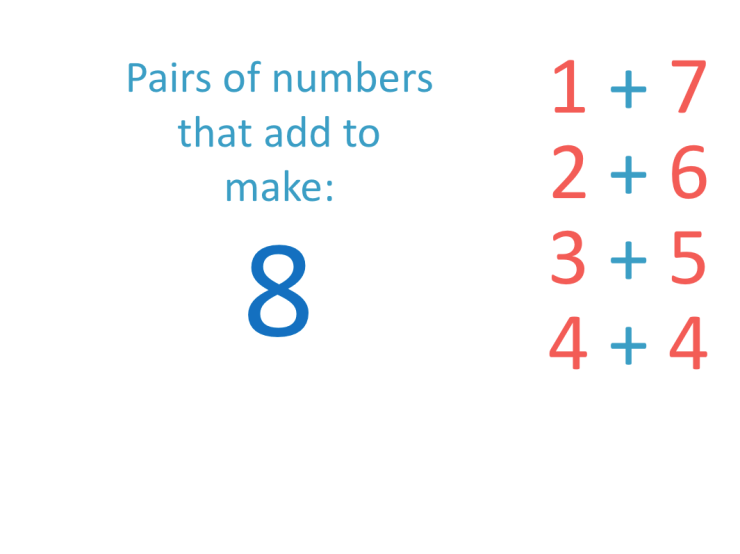 list of the number bonds to 8