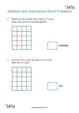 simple addition word problems worksheet pdf