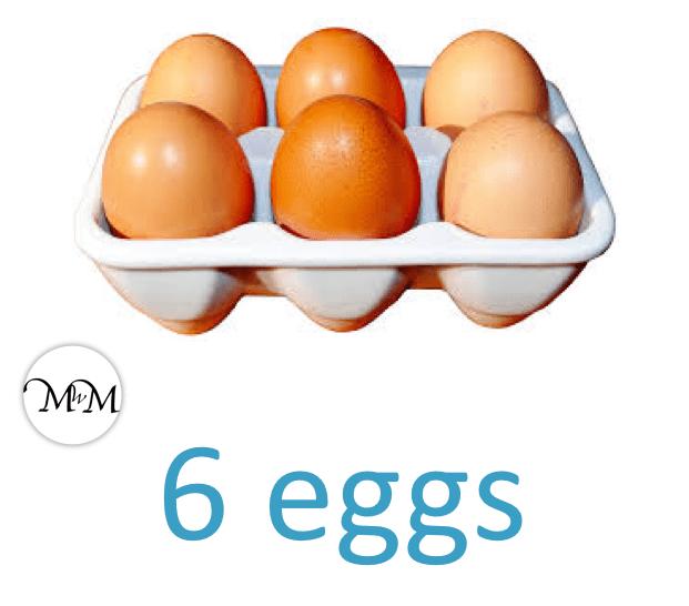 each box of eggs contains 6 eggs