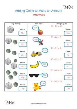 giving change british money worksheet answers pdf