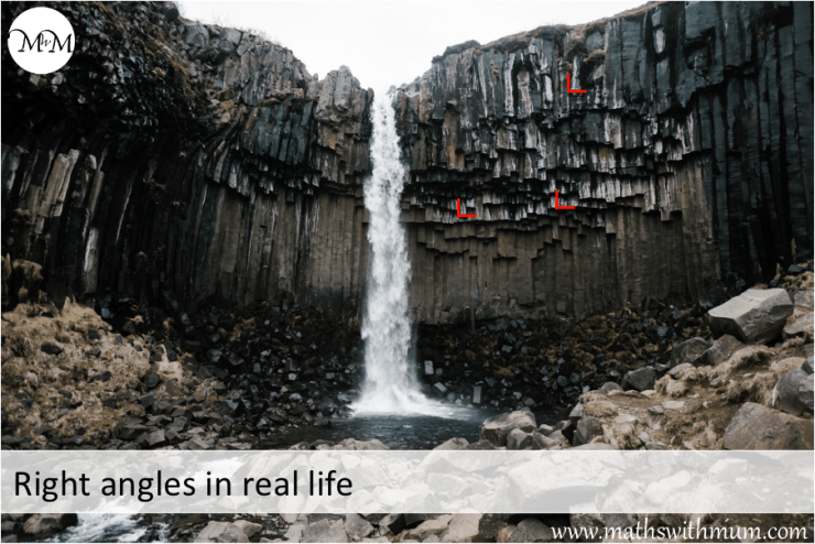 right angles in nature rock formation