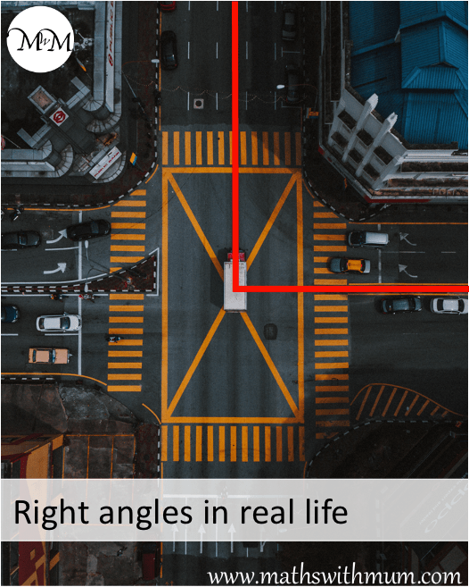 a road intersection meeting at right angles