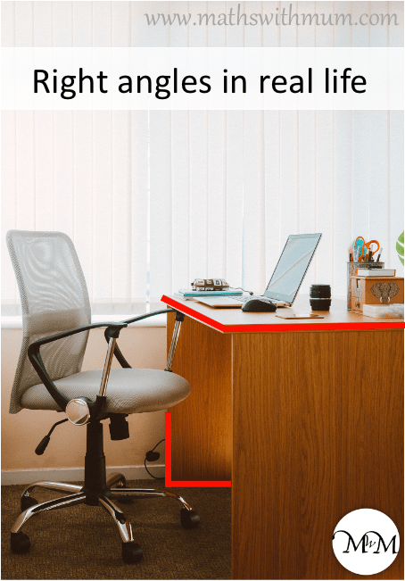 right angles in real life example on a desk