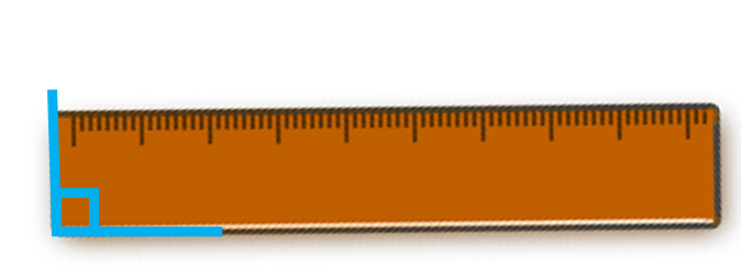 right angle on a ruler
