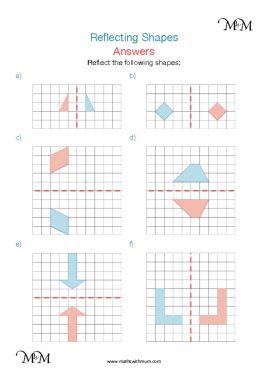 Reflecting shapes worksheet answers pdf