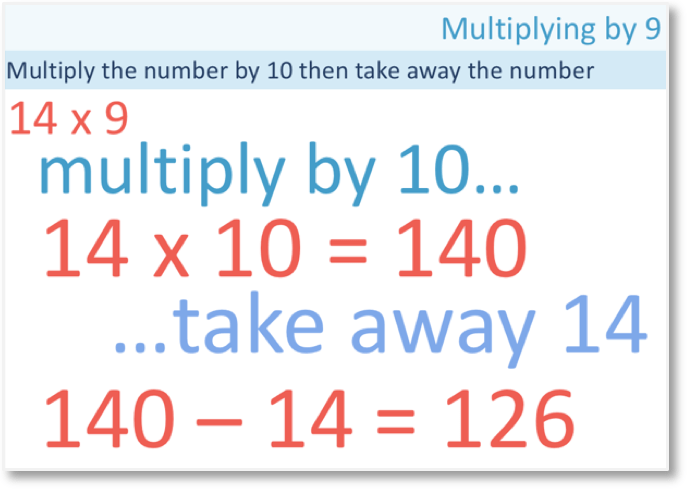 multiplying by 9 and 19